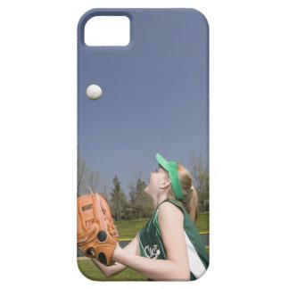 Bola de cogida del jugador de la liga pequeña funda para iPhone SE/5/5s