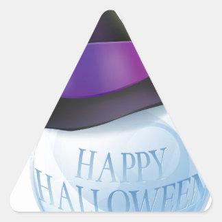 Bola de cristal de Halloween Calcomanías Triangulos Personalizadas