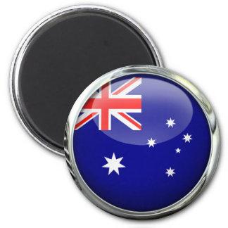 Bola de cristal de la bandera de Australia Imán Redondo 5 Cm