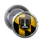 Bola de cristal de la bandera de Baltimore Pins