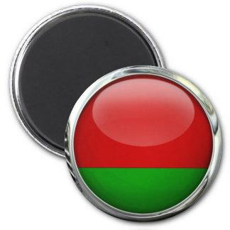 Bola de cristal de la bandera de Bielorrusia Imanes