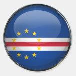 Bola de cristal de la bandera de Cabo Verde Pegatinas