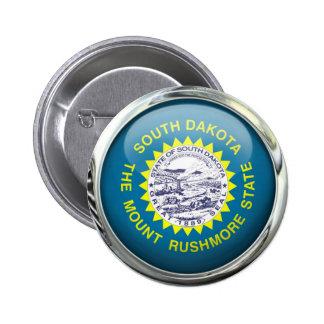 Bola de cristal de la bandera de Dakota del Sur Pins