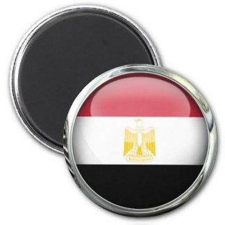 Bola de cristal de la bandera de Egipto Imán Redondo 5 Cm