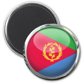 Bola de cristal de la bandera de Eritrea Imán Redondo 5 Cm