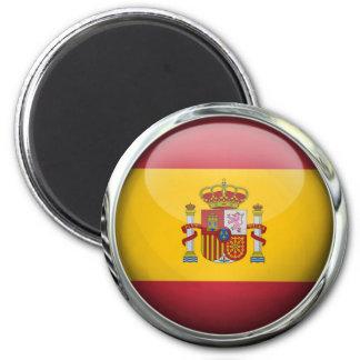 Bola de cristal de la bandera de España Imán Redondo 5 Cm