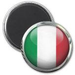 Bola de cristal de la bandera de Italia Imanes Para Frigoríficos