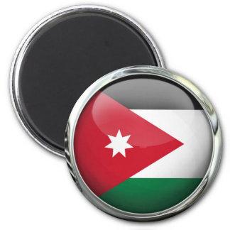 Bola de cristal de la bandera de Jordania Imán Redondo 5 Cm