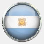 Bola de cristal de la bandera de la Argentina Pegatina
