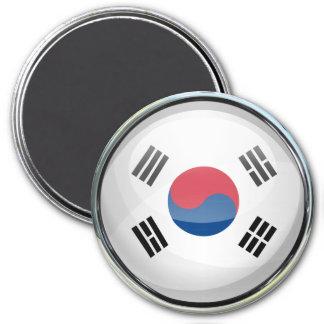 Bola de cristal de la bandera de la Corea del Sur Imán Redondo 7 Cm