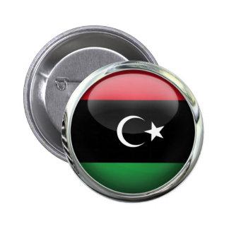 Bola de cristal de la bandera de Libia Pin Redondo De 2 Pulgadas