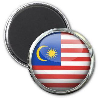 Bola de cristal de la bandera de Malasia Imán Redondo 5 Cm