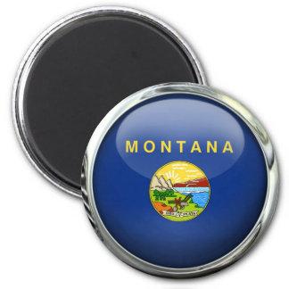 Bola de cristal de la bandera de Montana Imán Redondo 5 Cm