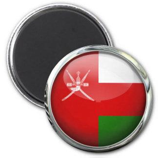 Bola de cristal de la bandera de Omán Imán Redondo 5 Cm