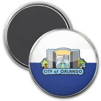 Bola de cristal de la bandera de Orlando Imán Redondo 7 Cm