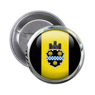 Bola de cristal de la bandera de Pittsburgh Pin Redondo De 2 Pulgadas