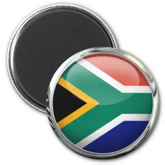 Bola de cristal de la bandera de Suráfrica Imán Redondo 5 Cm