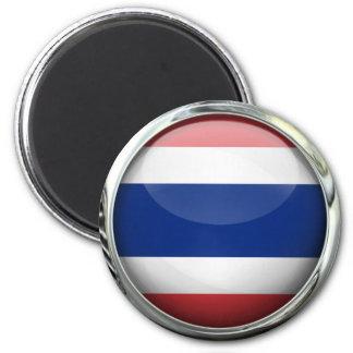 Bola de cristal de la bandera de Tailandia Imán Redondo 5 Cm
