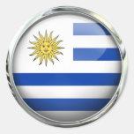 Bola de cristal de la bandera de Uruguay Pegatinas