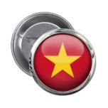Bola de cristal de la bandera de Vietnam Pin