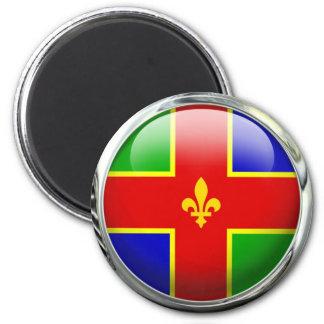 Bola de cristal de la bandera del condado de imán redondo 5 cm