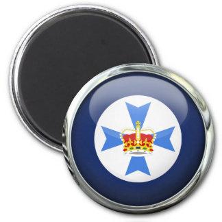 Bola de cristal de la bandera del estado de imán redondo 5 cm