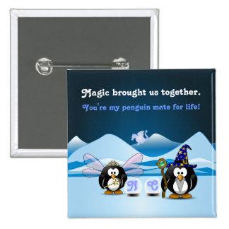 Bola de cristal de la hada del mago de los pingüin pins