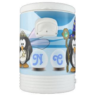 Bola de cristal de la hada del mago de los pingüin enfriador de bebida igloo