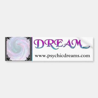 ¡Bola de cristal Impresiones y sueños psíquicos Etiqueta De Parachoque