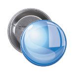 Bola de cristal mágica azul pin