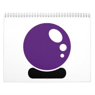 Bola de cristal mágica calendario de pared