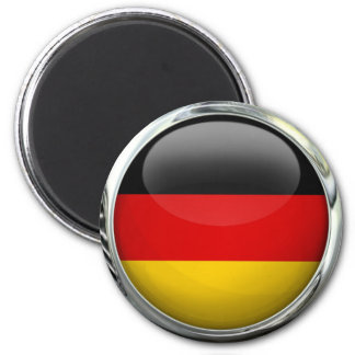Bola de cristal redonda de la bandera de Alemania Imán Redondo 5 Cm