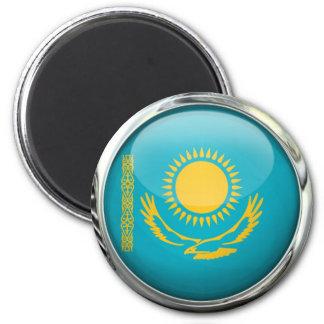 Bola de cristal redonda de la bandera de imán redondo 5 cm