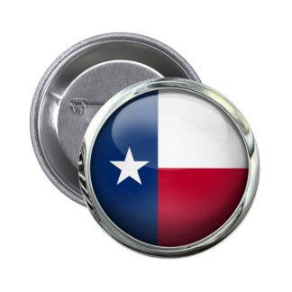 Bola de cristal redonda de la bandera del estado pin redondo de 2 pulgadas
