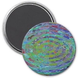 Bola de cristal reluciente imán redondo 7 cm