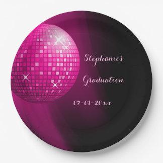 Bola de discoteca atractiva del fiesta de las plato de papel 22,86 cm