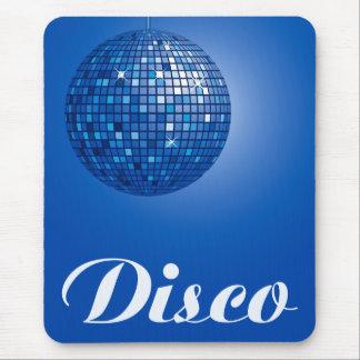 bola de discoteca azul tapete de raton