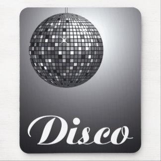 bola de discoteca blanco y negro alfombrilla de raton
