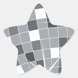 Bola de discoteca (bola, bola de espejo pegatina en forma de estrella