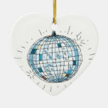 Bola de discoteca brillante ornamento de navidad