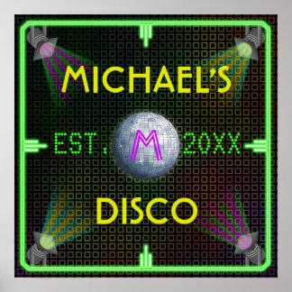 Bola de discoteca casera adaptable de los años 70  poster