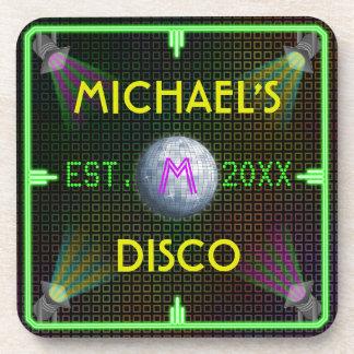 Bola de discoteca casera adaptable de los años 70 posavaso