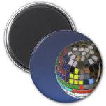 bola de discoteca con el espacio de la copia imanes de nevera