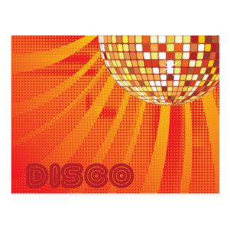 Bola de discoteca de los años 80 80s del ~ del postal