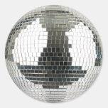 Bola de discoteca de Mirrorball Pegatina Redonda