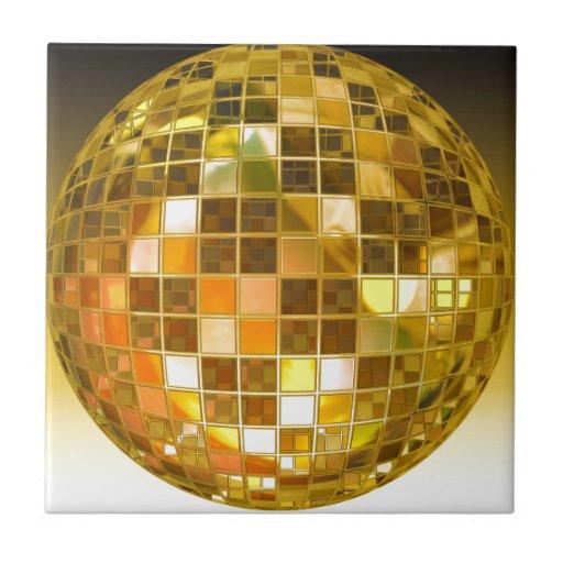 Bola de discoteca de oro azulejos