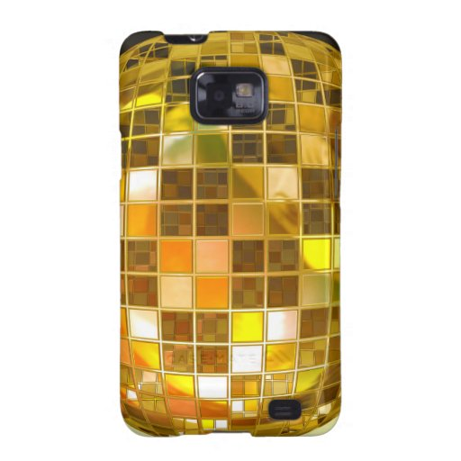 Bola de discoteca de oro galaxy SII carcasa