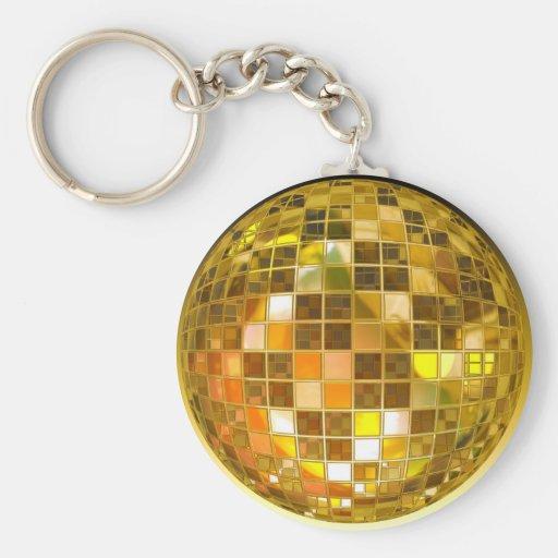 Bola de discoteca de oro llavero personalizado