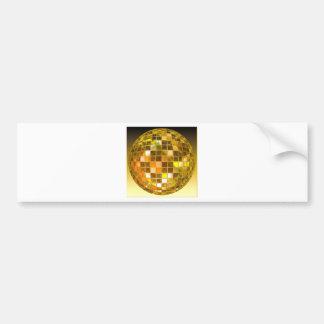 Bola de discoteca de oro pegatina para auto