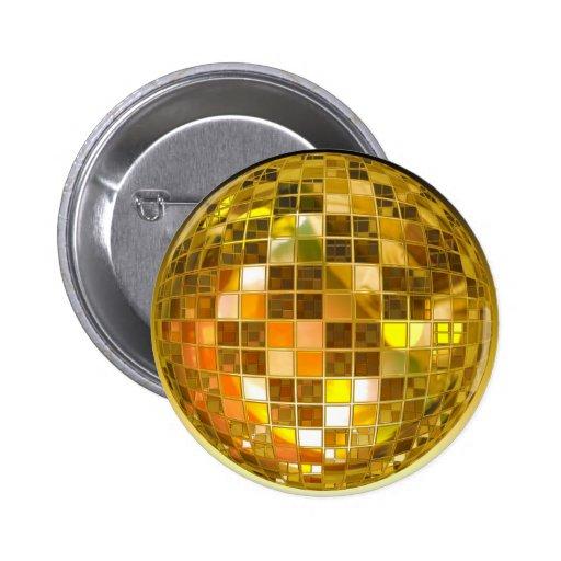 Bola de discoteca de oro pins